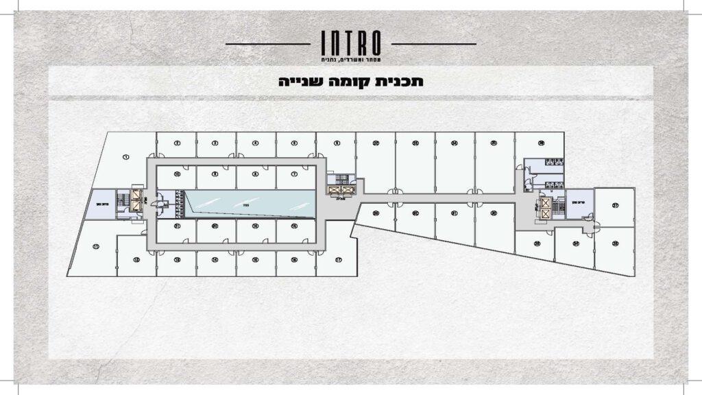 משרדים למכירה בנתניה INTRO תוכניות מכירה